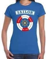Zeeman sailor verkleed t-shirt blauw voor dames